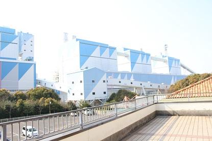 火力発電所の外観