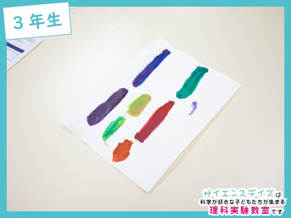 絵具の色を混ぜる